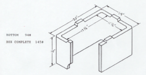 Fogtite No. 1 meter box drawing